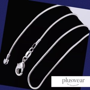 """Jewelry - Pack of 3 Silver """"Snake"""" Style Chains 24"""" Long Ea"""